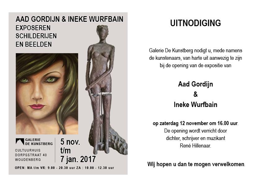 Expositie Aad Gordijn en Ineke Wurfbain