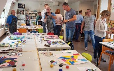 Raadsuitje 2017 – Workshop lijn vorm en kleur