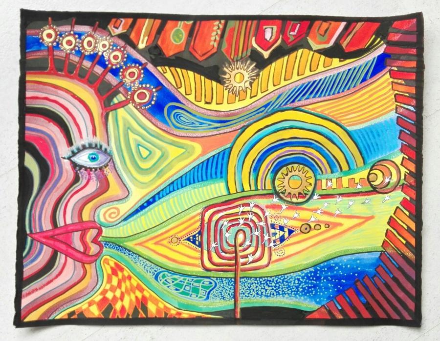 KCW Schildering van Joke Hundertwasser Workshop