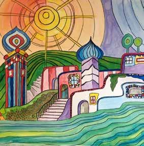Workshop tekenen en schilderen a la hundertwasser